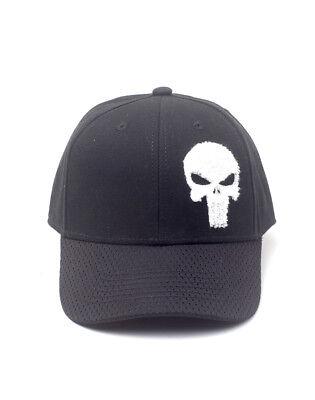 e3a0243784e OFFICIAL MARVEL COMICS - THE PUNISHER SKULL SYMBOL BASEBALL SNAPBACK CAP  (NEW)