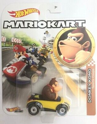 Hot Wheels 2020 Mariokart Donkey Kong Sport Coupe 1/64 Diecast Characters -