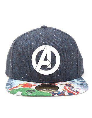 The Avengers Logo Comic Print Marvel Cap Baseball Kappe Mütze Snapback