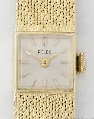 1960s Rolex 14K Yellow Gold 29 Grams Wide Ladies Wrist Watch