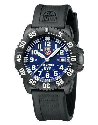 Luminox Navy Seal Carbonox 3050 Series Black Band XS.3054 Watch Blue Dial