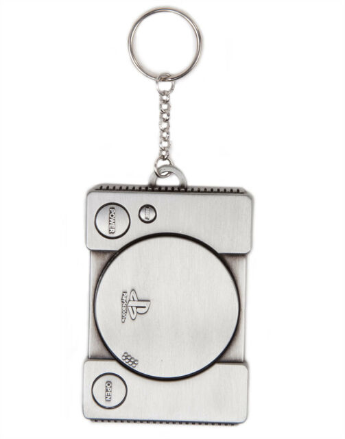 OFFICIAL SONY'S PLAYSTATION (PS1) CONSOLE GREY METAL KEYRING (BRAND NEW)