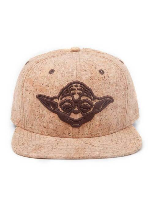 OFFICIAL STAR WARS YODA FACE CORK SNAPBACK CAP (BRAND NEW)