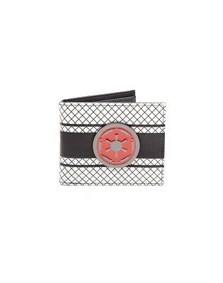 STAR WARS GALACTIC EMPIRE METAL SYMBOL WHITE LINED WALLET