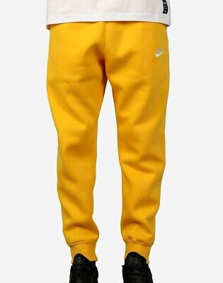 Nike Men's NSW Sportswear Club Fleece Jogger Pants Yellow/White BV2671-739 e