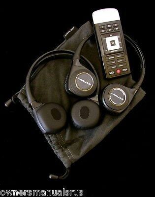 Jaguar DVD Wireless Headphones and Remote OEM