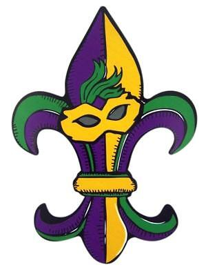 - Mad Mags Mardi Gras Fleur De Lis Magnet Decal for Car Refrigerator or Locker