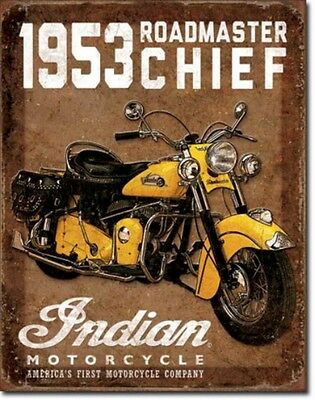 Indian Motorcycles 1953 Chief Road Metal Sign Tin New Vintage Style USA #1932