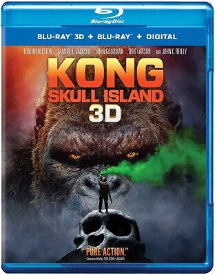 Kong Skull Island 3D 3D  Used  Blu Ray   Only Disc Read Details