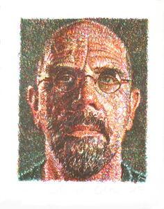 Signed-2007-Chuck-Close-Self-Portrait-Serigraph