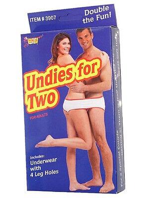 Undies For Two With 4 Leg Holes Openings Novelty Gag Gift Underwear](Halloween Undies)