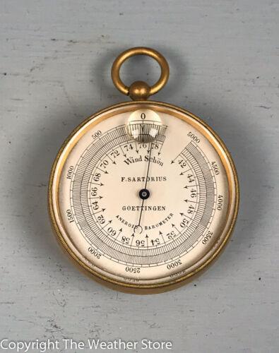 Antique Pocket Barometer / Altimeter by F. Sartorius, Goettingen