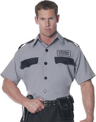 Morris Costumes Men's Prison Guard Officer Shirt Gray Black One Size. UR28297](Prison Guard Costumes)