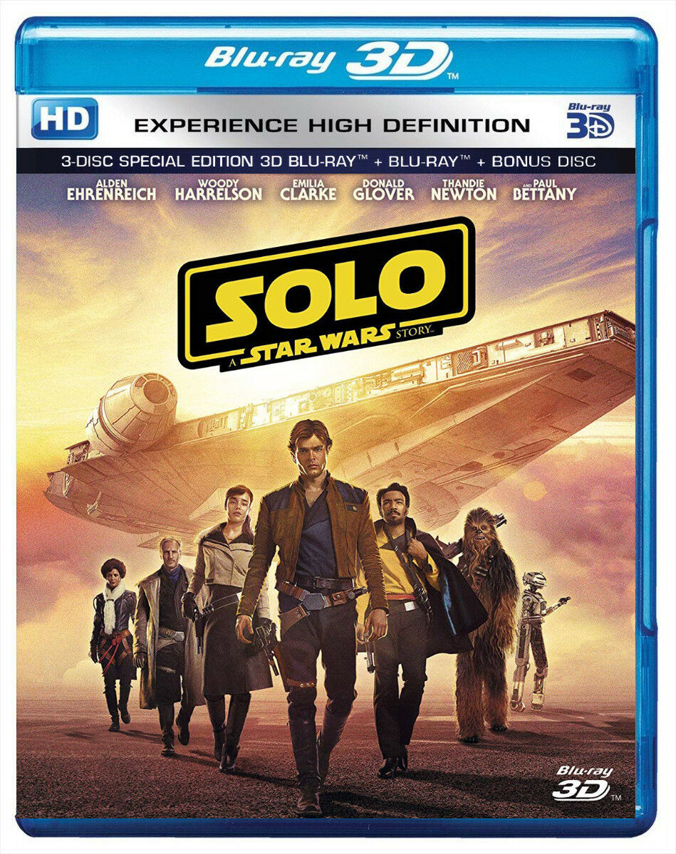 Solo: A Star Wars Story (Blu-ray 3D + Blu-ray + Bonus) (Region Free)(SHIPS NOW)