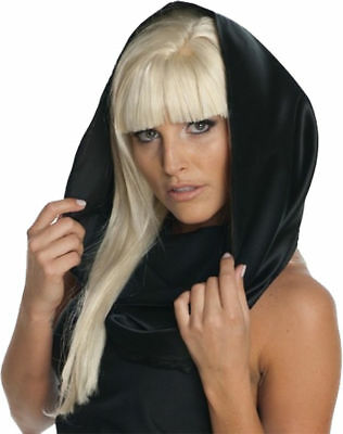 Morris Costumes Accessories & Makeup Lady Gaga Black Headscarf. (Lady Gaga Costume)