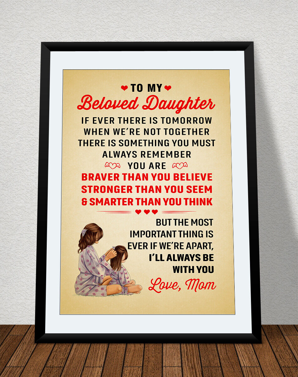 Beautiful Mom//Mother Quality Quote Satin Poster Prints Home Various Designs