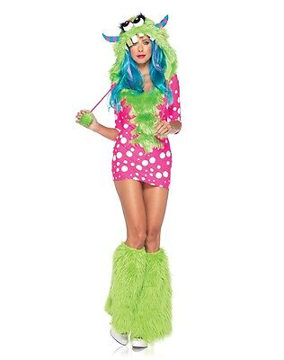 Costume Halloween Sexy Hood Womens Polka Dot Leg Avenue (Melody Monster Kostüm)