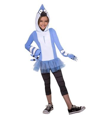 Mordecai Costume Regular Show COSPLAY HALLOWEEN COSTUME GIRLS MED 8-10 - New Regular Show Halloween