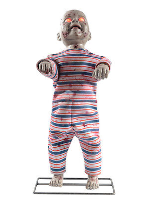Lil Walker Standing Zombie Baby Animated Halloween Decoration Animatronic Prop ()