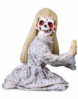 Halloween animated Poltergeist girl and horror TV!! NEW