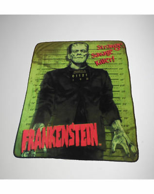 Halloween Mug Shots (Frankenstein Monster Halloween Plush Fleece Throw Blanket Zombie Movie Mug Shot)