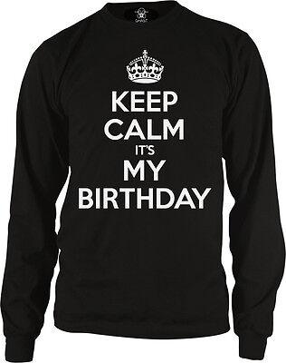 Keep Calm It's My Birthday War Poster Happy Joke Crown Party It Is Men's Thermal