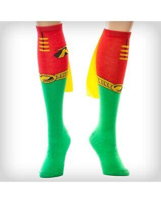 Robin Batman Kostüm Socken mit Cape Dc Comics Socken