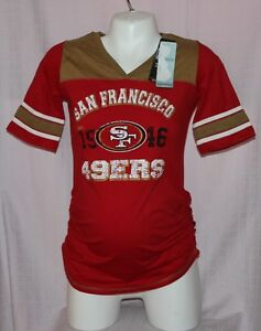 6ab06d6e0 NFL Apparel Motherhood Womens San Francisco 49ers Maternity V-Neck T-Shirt M