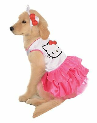 Rubie's Pet Shop-Hello Kitty Dress with Head Band - Hello Kitty Hunde Kostüm