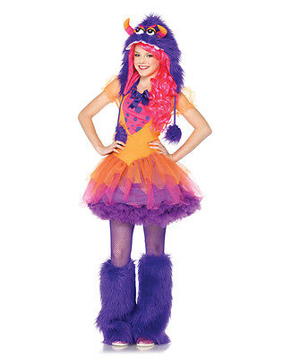 NEW Leg Avenue FURRROCIOUS FRANKIE Costume Dress + Hood 10-12 Halloween Jr Girl