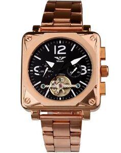 Minoir Watches - Model Albi II rose gold/black - Automatic watch, Men's watch