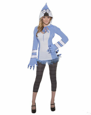 Cartoon Network Regular Show Mordecai Size M 10-12 Adult Woman Licenced Costume