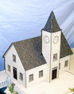 Town Hall With Clock Tower O On3 On30 Modelrailroad Structure Laser Kit  Df406