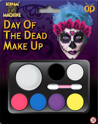 Halloween Day of the Dead Multi Pallet Makeup Horror Skeleton Scary Party - Halloween Day Makeup