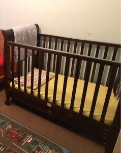 Quality cot, change table & linen bundle