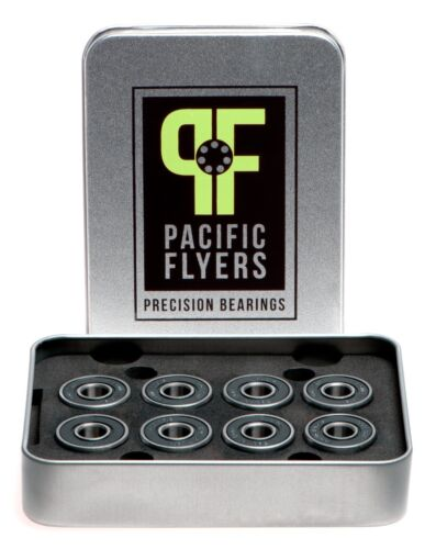 Pacific Flyers Premium ABEC 9 Skateboard Bearings / Set of 8 Bearings