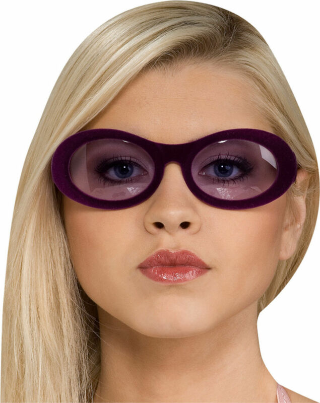 Morris Costumes Accessories & Makeup Velvitas Plastic Purple Glasses. RU8266