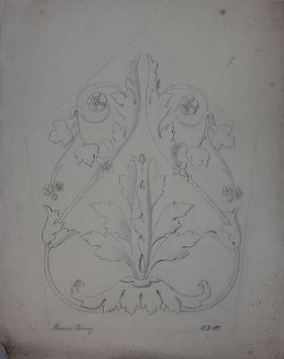 Heinrich Bozung - Bleistiftzeichnung Architektur, datiert 1899
