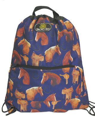AWESOME HORSE Drawstring BACKPACK Cinch Bag BEST UNIQUE HORSES GIFT IDEAS (Broad Bay Cotton Horses)