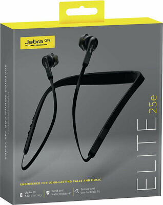 Jabra Elite 25e Wireless Bluetooth In-Ear Headphones with Microphone - Black Jabra In Ear Microphone