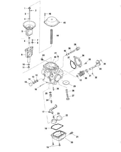 Carburetor ASM For Polaris ATV 2003 MAGUNM 330 4X4 ,2X4