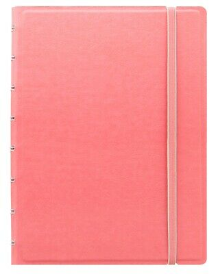 Pastel Pink A5 Filofax Notebook Refillable Spiral Bound Repositionable Pages