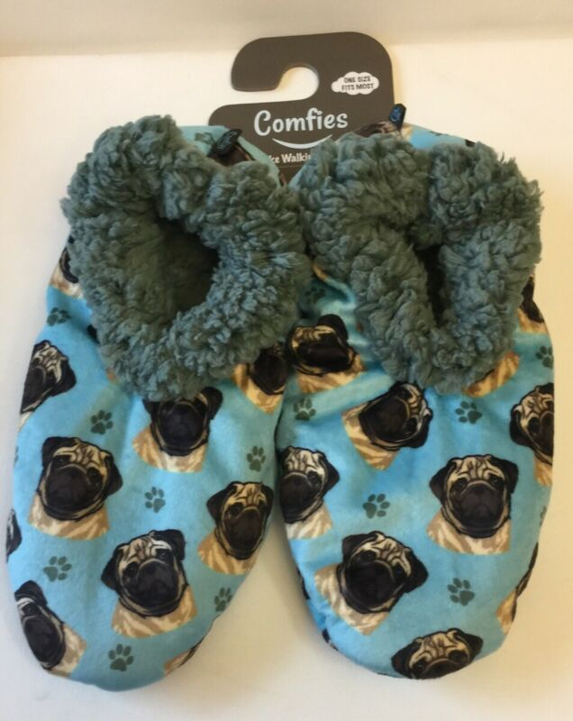 Pug Comfies Slippers One Size The Best Quality