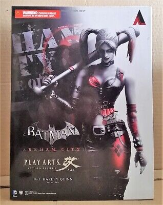 Play Arts Batman: Arkham City #5 Harley Quinn Action Figure! Neu & OVP
