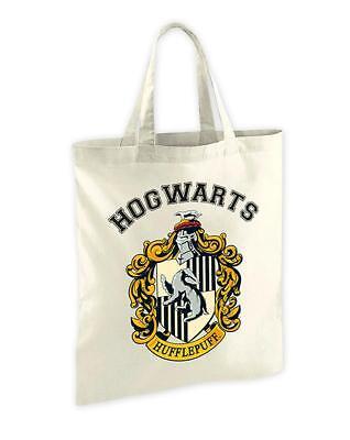 Harry Potter Stofftasche Hufflepuff Wappen - Jutebeutel Jute Tasche Hogwarts NEU (Harry-potter-stoff)