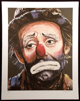 "Barry Leighton-Jones ""Weary Willie"" Hand Signed Artist's Proof Art Print, clowns"