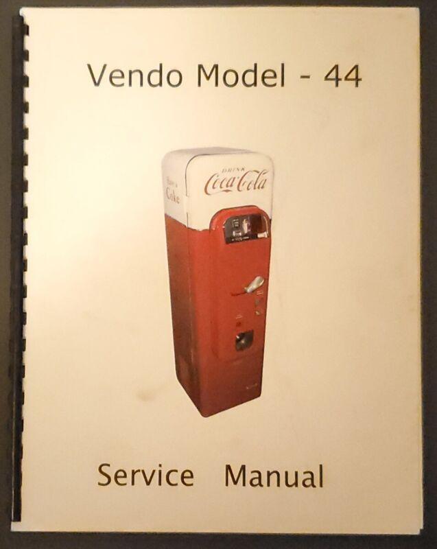 Coca-Cola Vendo Model 44 Vending Machine Service Manual Coke Soda Owners Guide