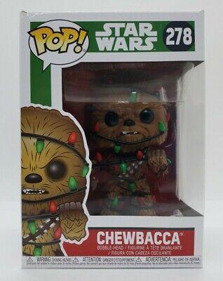 Funko Pop! Star Wars Chewbacca (Lights) #278 + Pop Protector Damaged Box
