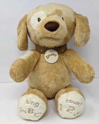 GUND Baby Spunky Doggie ABC 123 Talking Singing Count Stuffed Animal Plush Dog