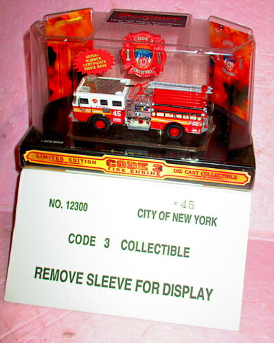 Code 3 12300-45 FDNY Seagrave Fire Pumper Engine 45 The Bronx Eagles NEW BOXED